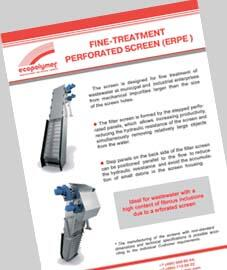 Fine-treatment perforated screen